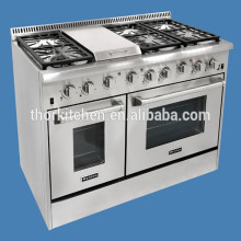 6 Burners Gas Range With Storage Cabinet Gas stove