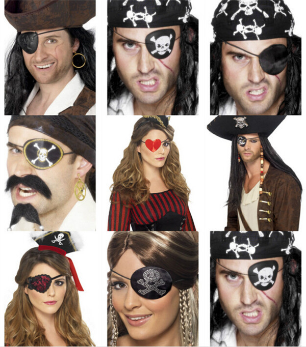PARTY FAVORS FELT PIRATE EYE PATCHES FOR DRESS UP THEME PARTY