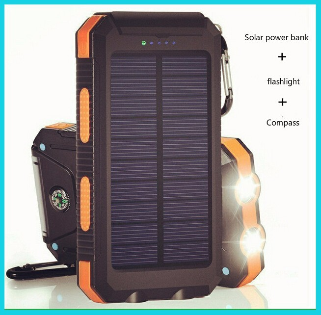 Shenzhen new productswaterproof Solar power bank with best price for mobile phone for smart watch