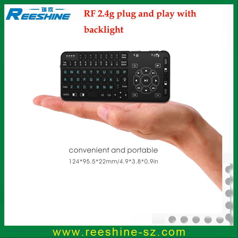 Best Price And Top Selling Rii rt504 2.4g Wireless Buletooth mini keyboard backlight I8 Air Mouse