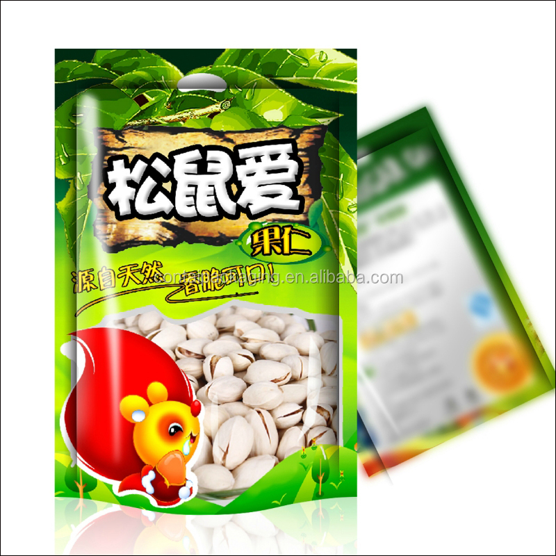 Food grade mylar cashew nut / dried fruits / dried vegetables custom plastic ziplock bag packaging with window