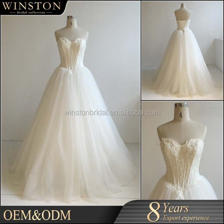 Latest Style High Quality wedding gown bridal gownfor plus size