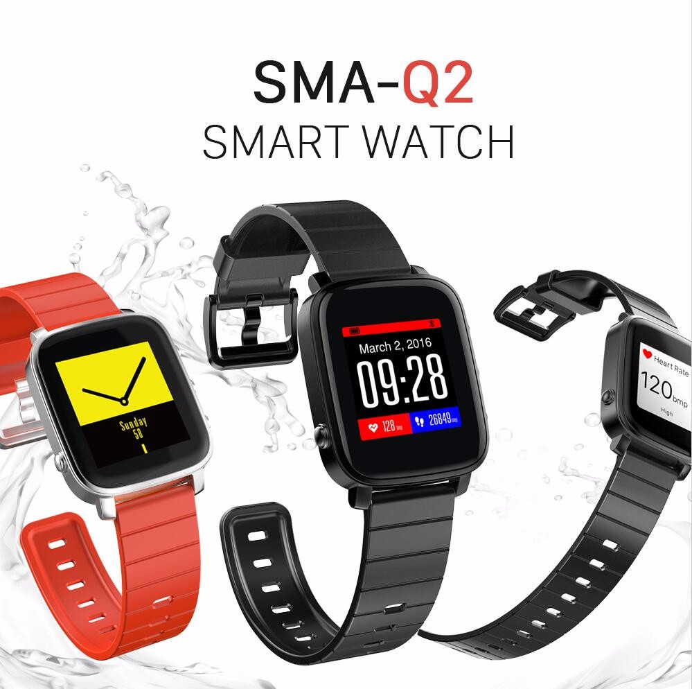 SMAWATCH bluetooth 4.0 sport watch men, women, heart rate monitor multifunction smart watch