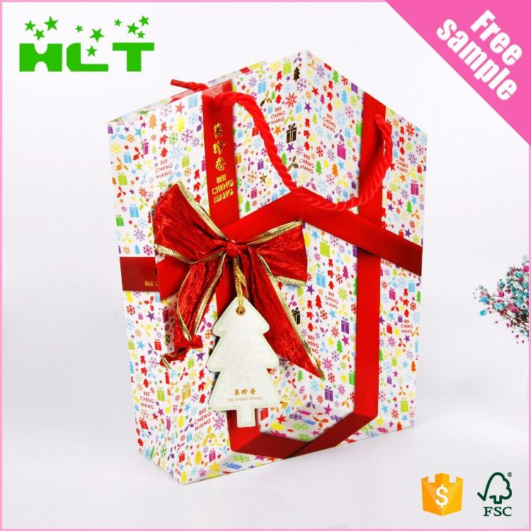 Simple decoration handmade paper bags for shopping