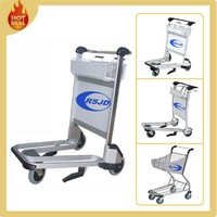 250 load bearing 3 wheels luggage trolley parts for airport