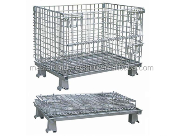 Galvanized wire mesh metal storage cage