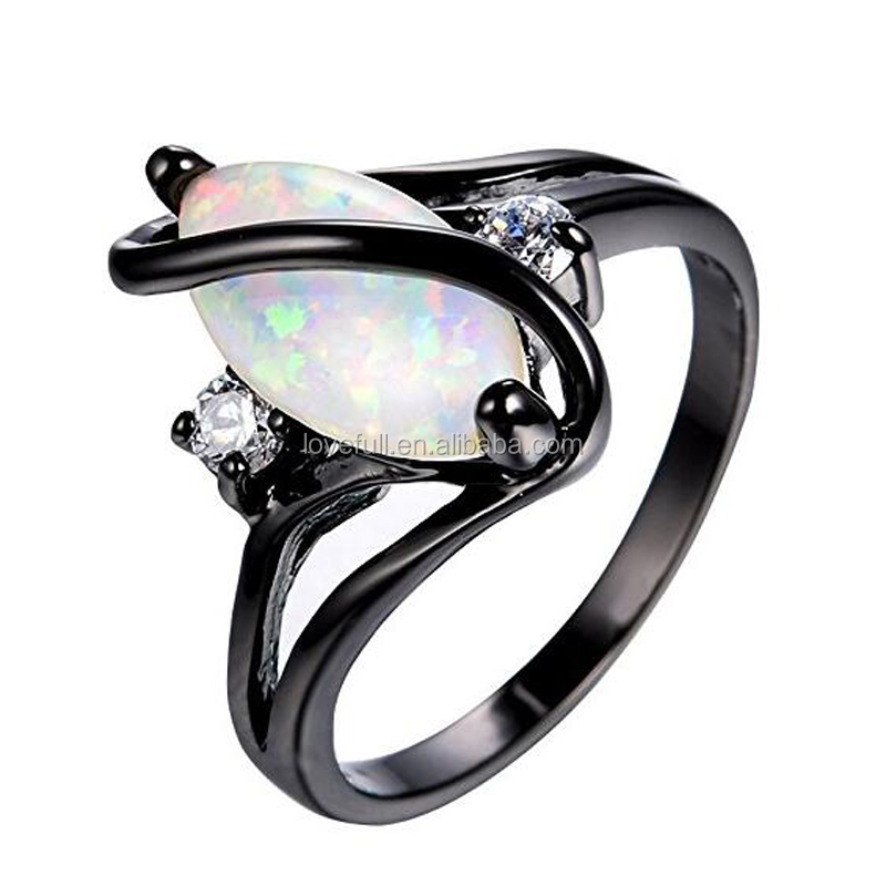 2017 Wholesale Top Quality Fire Opal Ring Factory Price Jewelry for Women
