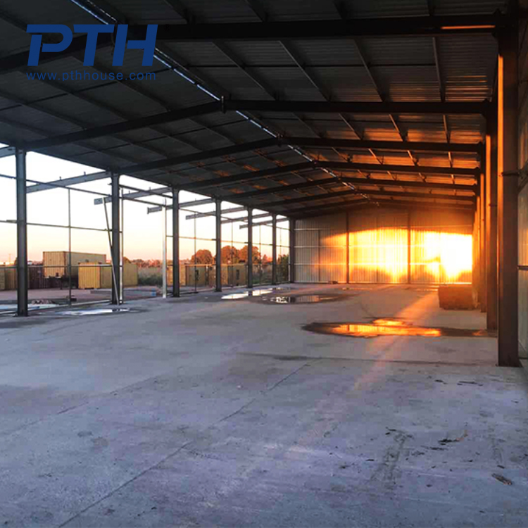 modular house steel structure warehouse with color steel sheet