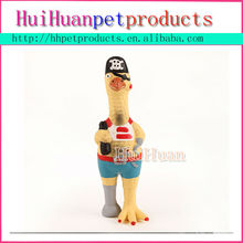 Latex style pirate Chicken style dog toy pet product