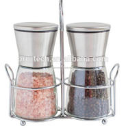 Stainless steel Kitchen Cruet Set 4Pcs Spice Jar Sets