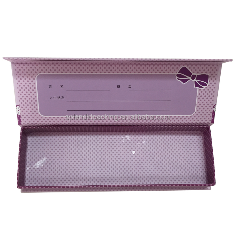 Customized Cheap And Fashion Design Foldable Paper Pen Box