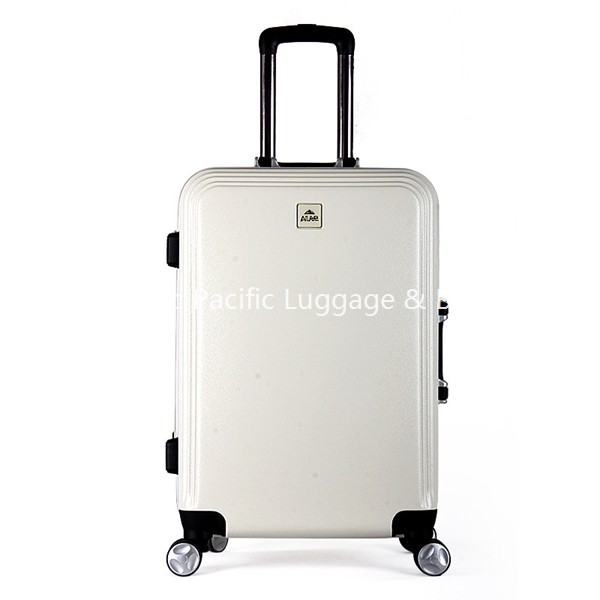 GMN15029 White PC Spinner Suitcase Design