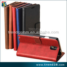 first class pc+pu material purse leather case for samsung galaxy note 3