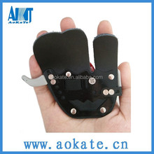 black leather hunting finger tab for archery