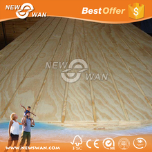 High quality standard size 18mm 20mm slotted plywood