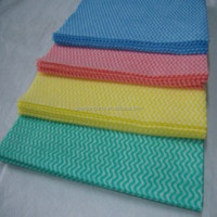 waved spunlace nonwoven fabric for kitchen wiping