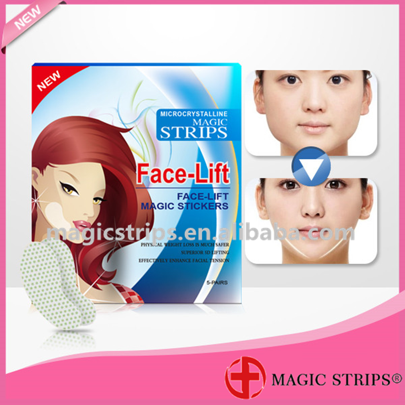 Popular Beauty Microcrystalline Magic Strips Face-Lift Magic Stickers V Shape Face Mask