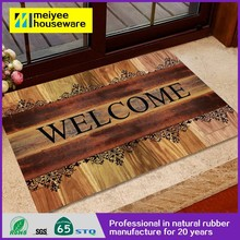 Latest fashion printed polyester cute rubber door mats,Heat transfer printing 3d flooring front doors customed door mat 73