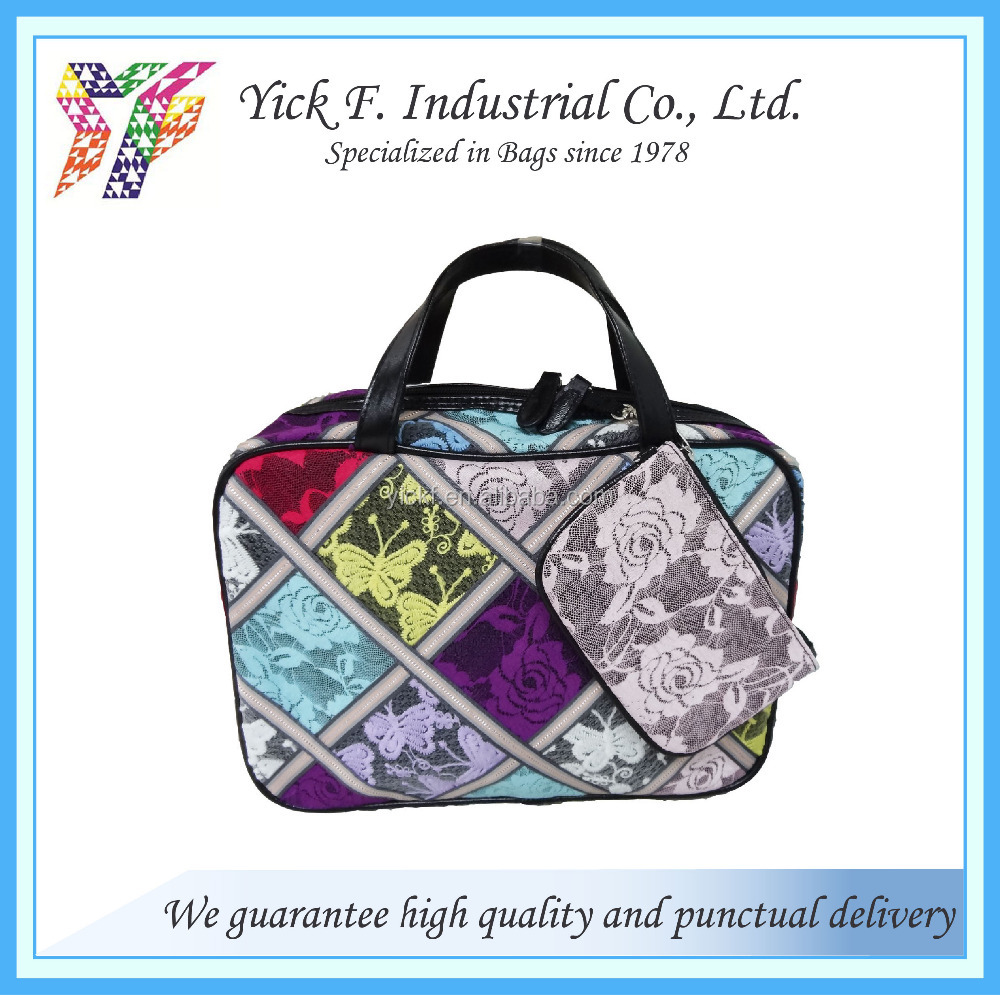 Fashionable colorful lace Large pouch / Cosmetic Bag