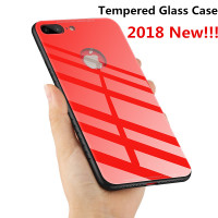 New For IPhone Apple 6 7 8 X Case Luxury Tempered Glass Shockproof Glossy Cover Back Shell
