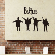 3d wall stickers home decor art vinyl custom famous character the beatles wall stickers decal decoration wallpaper