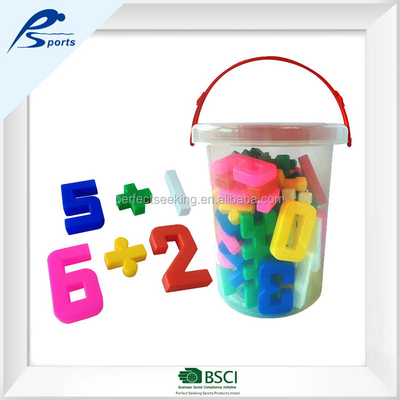Preschool Toys Plastic Big Number Figure Building Blocks For Little Kids