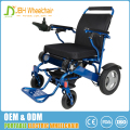 Factory directly selling price lightweight aluminum frame power foldable electric wheelchair wide cushion