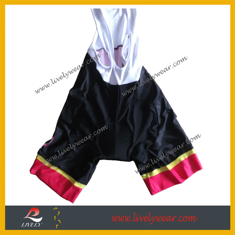 Lively-- women men high quality customized bib shorts, race cut cycling tights