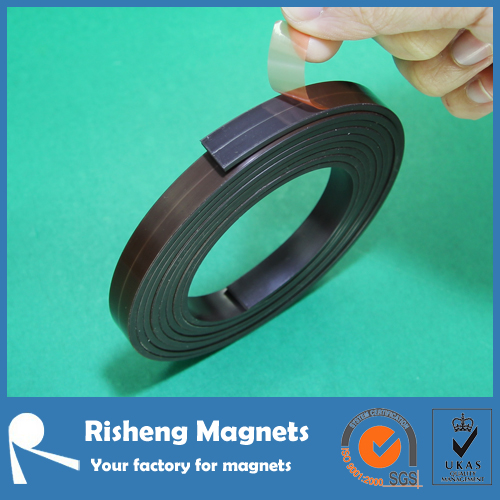 Self adhesive rubber magnet flexible magnetic strip roll