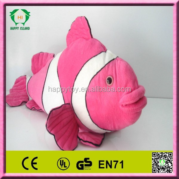 "HI EN71 2015 hot sale funny Clownfish Plush Stuffed Animal Toy 7"" Clownfish Plush Stuffed Animal Toy"