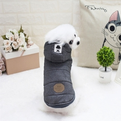 Wholesale Stock New Style Pet Dogs Clothes Warm Winter Plush Hooded Coat Clothes Pet Supply