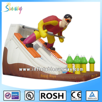2016 SUNWAY Giant Inflatable Floating Water Slide , Adult Inflatable Water Slide