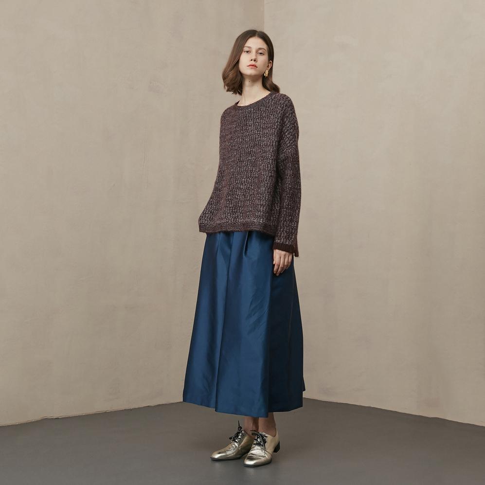 High Waist Large Swing Tulle Women knee length black pleated long skirts