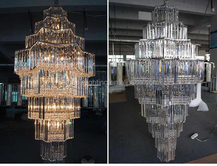 Hotel project crystal decoration chandelier indian pendant lighting