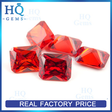 Rectangle Faceted Cut Garnet CZ Stone wholesale sterling silver cz stud earrings