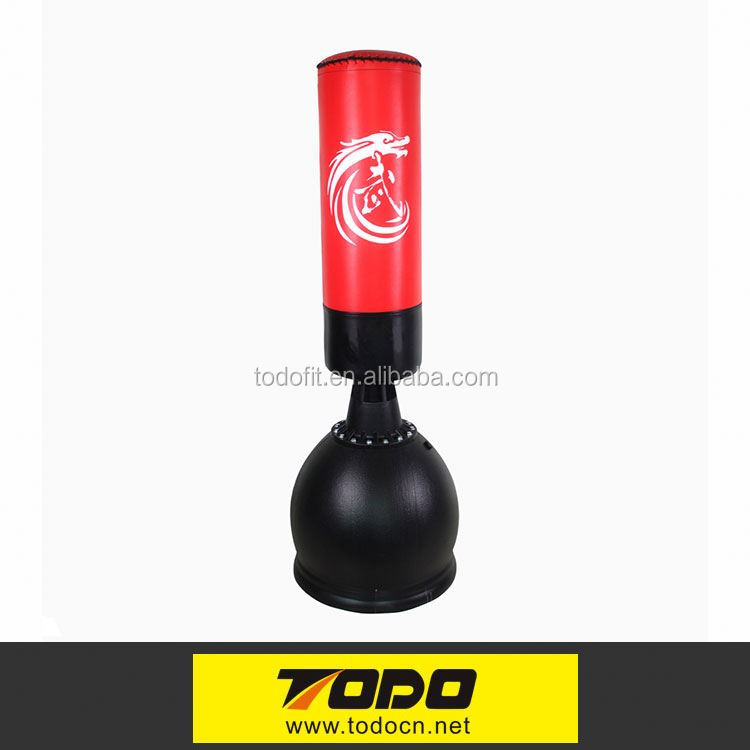Good quality Cheap Leather free standing punch bag punching dummy