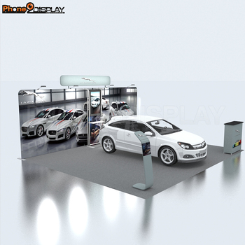 Easy set up car exhibition booth display trade show booth