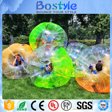Low prices cheap inflatable belly bouncing ball/hamster ball, plastic human body zorb ball