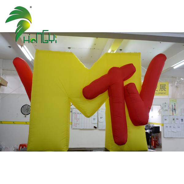 Customized Inflatable MTV Sign Model For Advertising Display