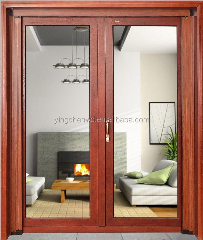 Aluminum single/double hung window with tempered glass