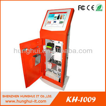 Multimedia Touchscreen Parking Payment System With Card Dispenser