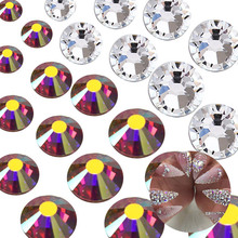 Factory wholesale flatback various colors SS3- SS50 non hot fix rhinestone