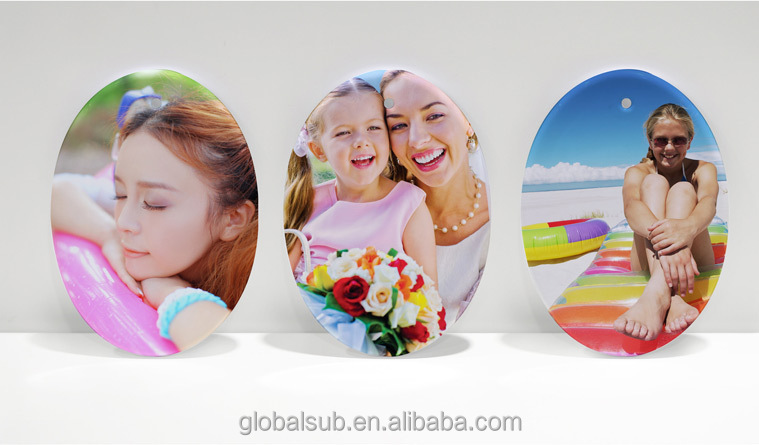 Personalized Christmas Ornaments Sublimation Ceramic Oval Ornament