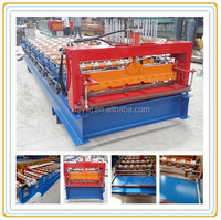 Trapezoid/curved metal roofing sheet profiling machine