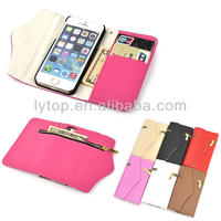 Luxury Wallet Handbag for iPhone 5, Lady Bag Case for iphone 5, Zipper Cash Card Slots for iPhone 5/5S
