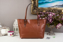 Hot sell high quality browen women leather bags handbags in dubai
