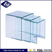 Top Qulity 15mm Tempered Glass Furniture Side Table Customized Decorative Glass