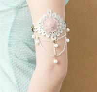 MYLOVE 2015 New design fashion factory price lace armlet handmade MLAT07