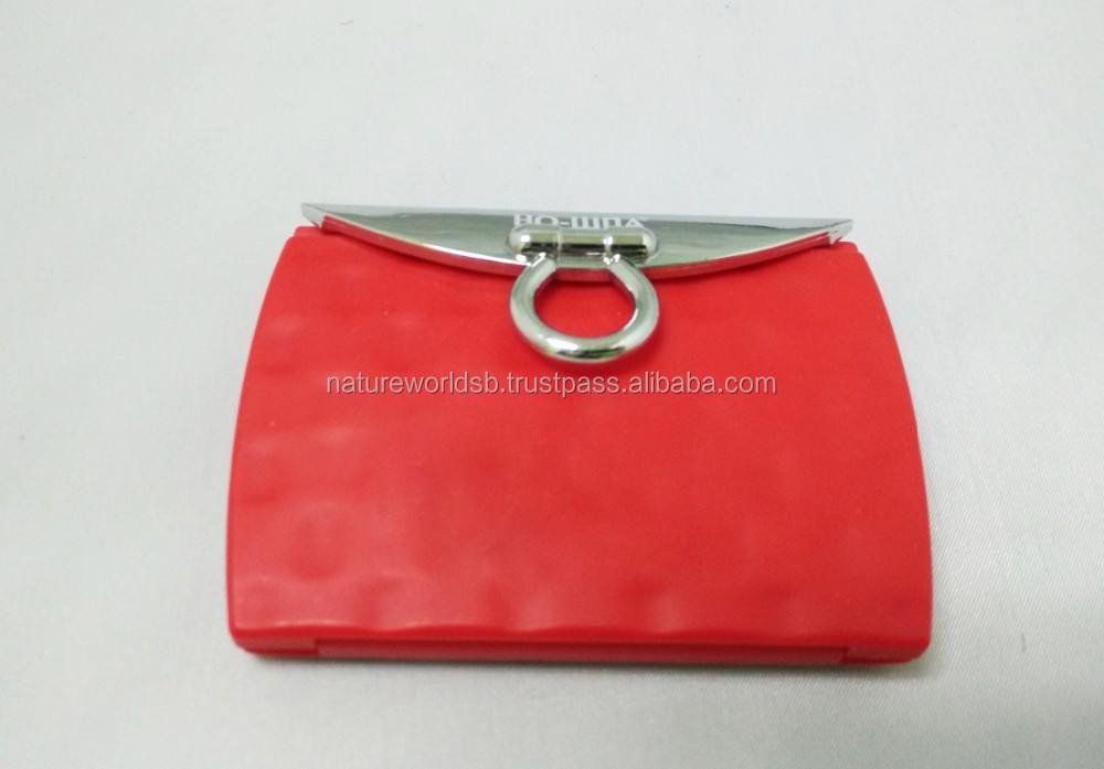 Red Design Wallet Shaped Cosmetic Mirror