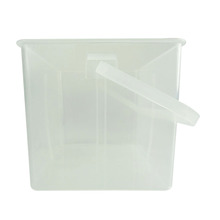 industrial self storage sealable pp hard plastic container